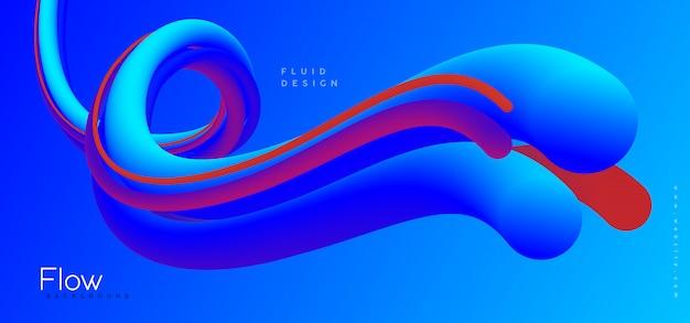 Memphis abstrakter blauer hintergrund