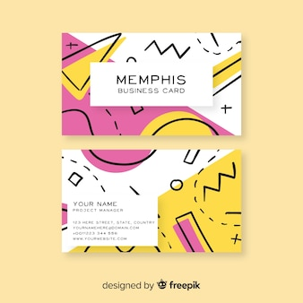 Memphis-art-visitenkarteschablone
