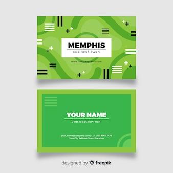Memphis-art-visitenkarteschablone