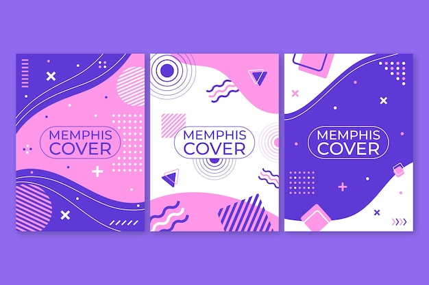 Memphis design cover kollektion