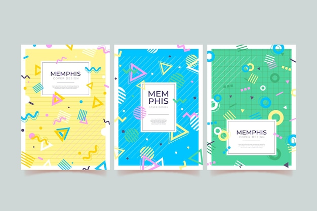Memphis design cover set