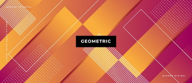 Memphis geometrischer hintergrund mit abstrakten formen