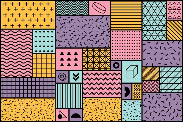 Memphis geometrischer hintergrund