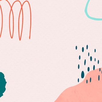 Memphis in rosa und grünen abstrakten bunten doodle-memphis-zeichnungen