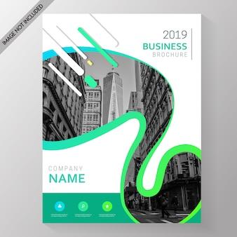 Memphis-moderne broschüren-schablone