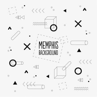 Memphis muster hintergrund