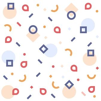 Memphis-muster von geometrischen formen. bunte muster memphis-stil