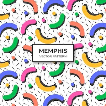 Memphis-musterhintergrund