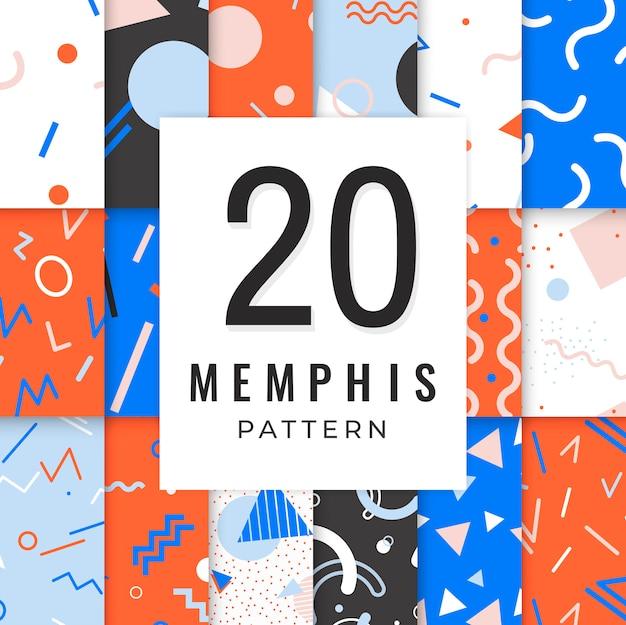 Memphis-mustersammlung