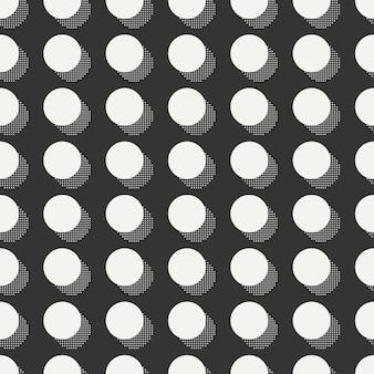 Memphis nahtlose muster. abstrakte durcheinanderbeschaffenheiten. kreis, rund, punkt.