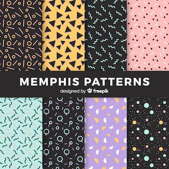 Memphis nahtlose muster pack
