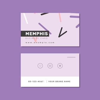 Memphis-namenskartendesign