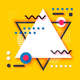 Memphis paper cut formen. pop art und 80er jahre stil. trendy abstract geometric.