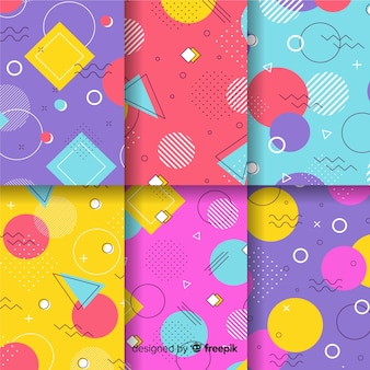 Memphis pattern collection hintergrund