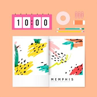 Memphis-sommerbriefpapierabbildung