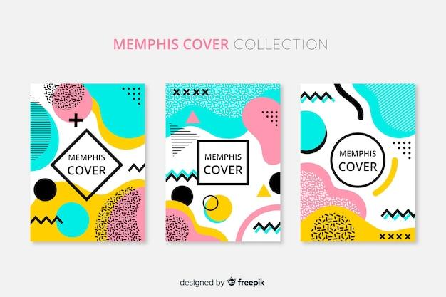 Memphis-stil-broschürenpackung