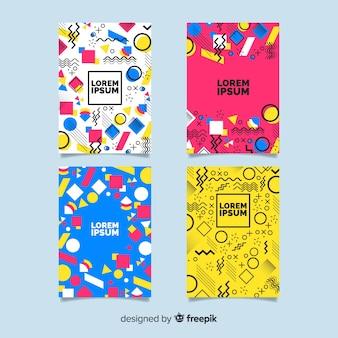 Memphis-stil broschürenvorlagensammlung