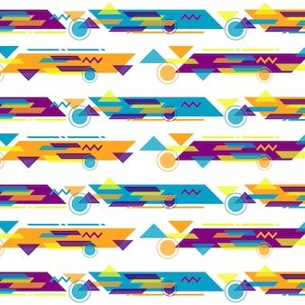 Memphis stil muster design