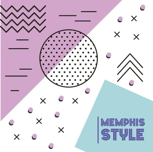 Memphis-stil-muster