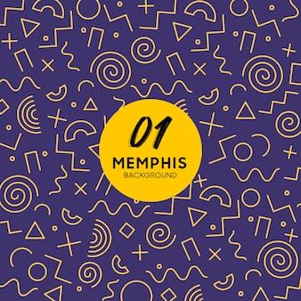 Memphis style hintergrund mit geometrischen formen