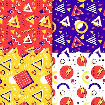Memphis style pattern set