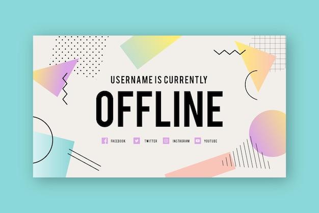 Memphis zucken offline-banner-vorlage
