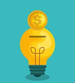 Mengenfinanzierungskonzeptikonenvektor-illustrationsdesign