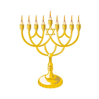 Menorah für chanukka isoliert