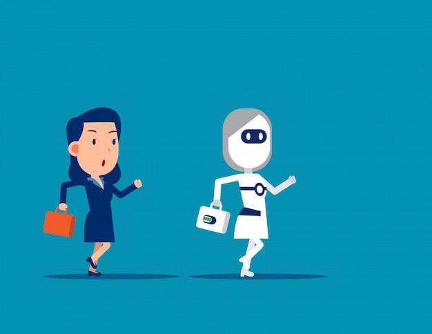 Mensch gegen roboter