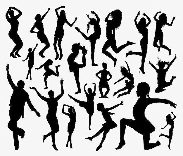 Menschen aktion silhouette.