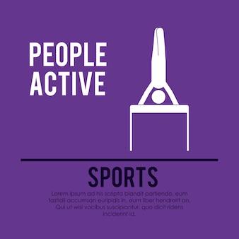 Menschen aktives Design