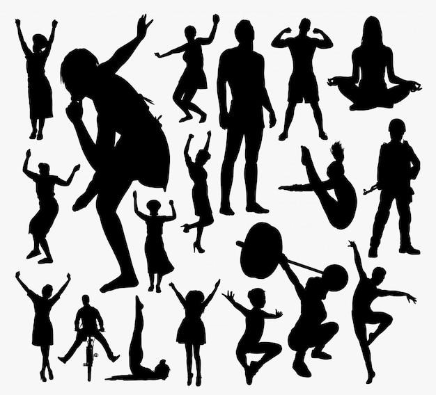 Menschen aktivität silhouette