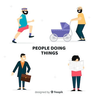 Menschen aktivitäten