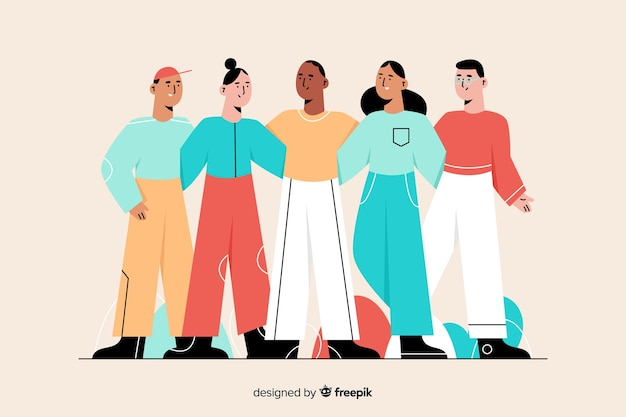 Menschen aus verschiedenen kulturen und rassen