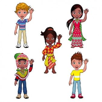 Menschen aus verschiedenen kulturen