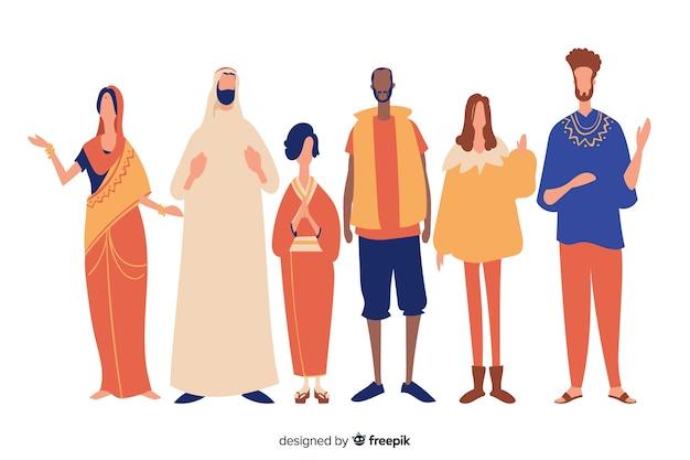 Menschen aus verschiedenen rassen und kulturen