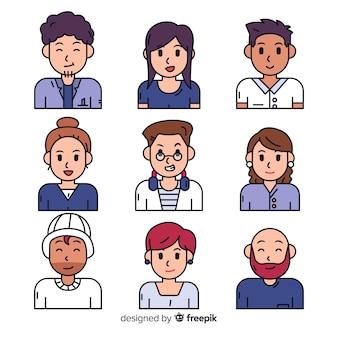 Menschen avatar collectio