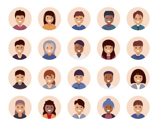 Menschen avatar große sammlung.