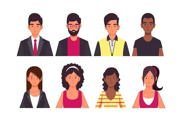 Menschen-avatar-konzept für illustrationskonzept