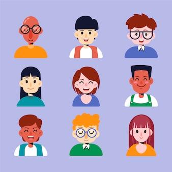 Menschen avatar-sammlung