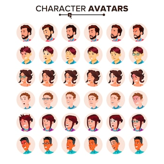 Menschen avatar set.