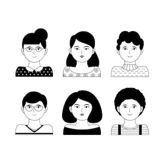 Menschen avatare gesetzt