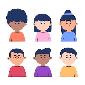 Menschen avatare illustration pack