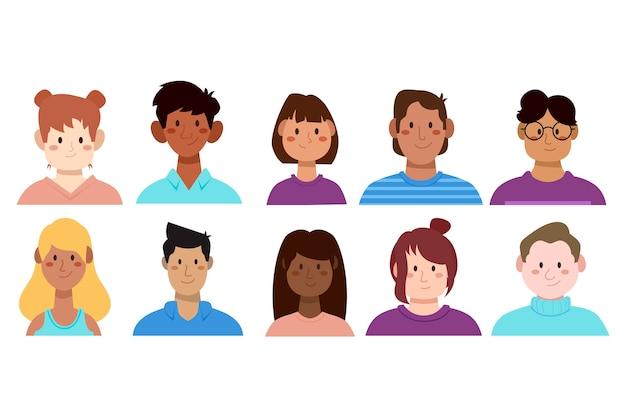 Menschen avatare illustration