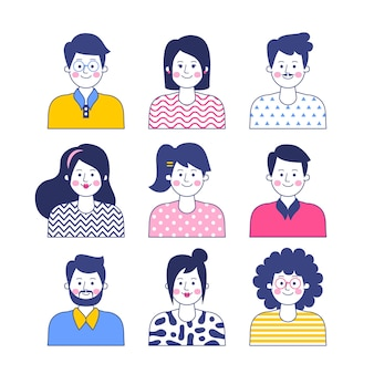 Menschen avatare konzept
