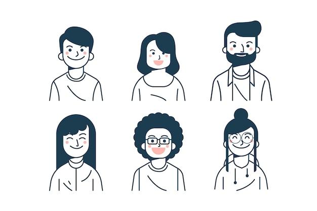Menschen avatare packen
