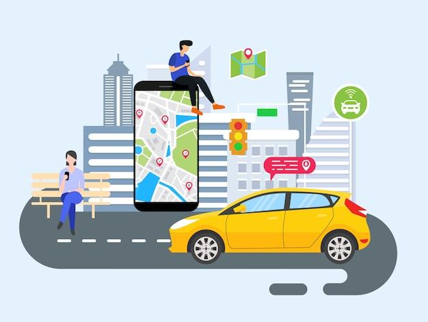 Menschen bestellen online-transport