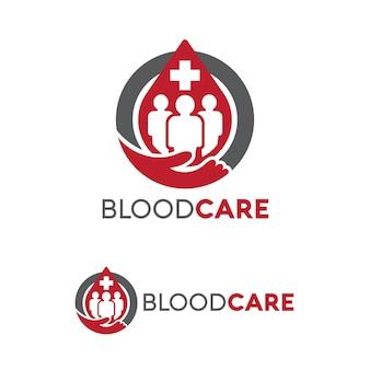 Menschen blutspende logo