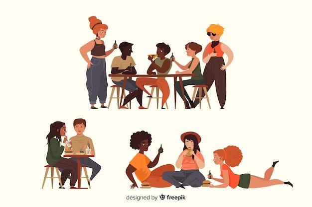 Menschen charakter sammlung