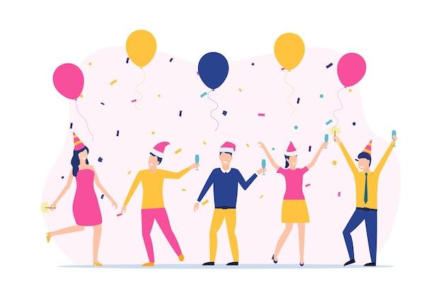 Menschen, die das neue jahr feiern